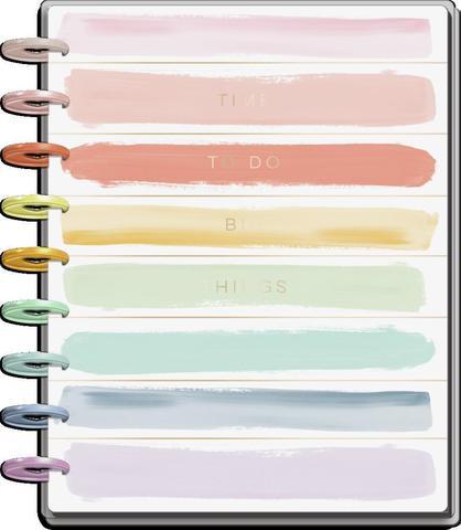 Ежедневник с июля 2021 по декабрь 2022 - Classic Colorblock Happy Planner - Painterly Pastels -  19,5х24,5см