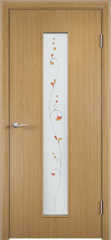Дверь С-21 (дуб, остекленная шпон файн-лайн), фабрика Верда