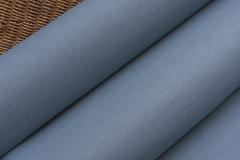 Льняная интерьерная ткань  цвет ТЕМНО-ГОЛУБОЙ