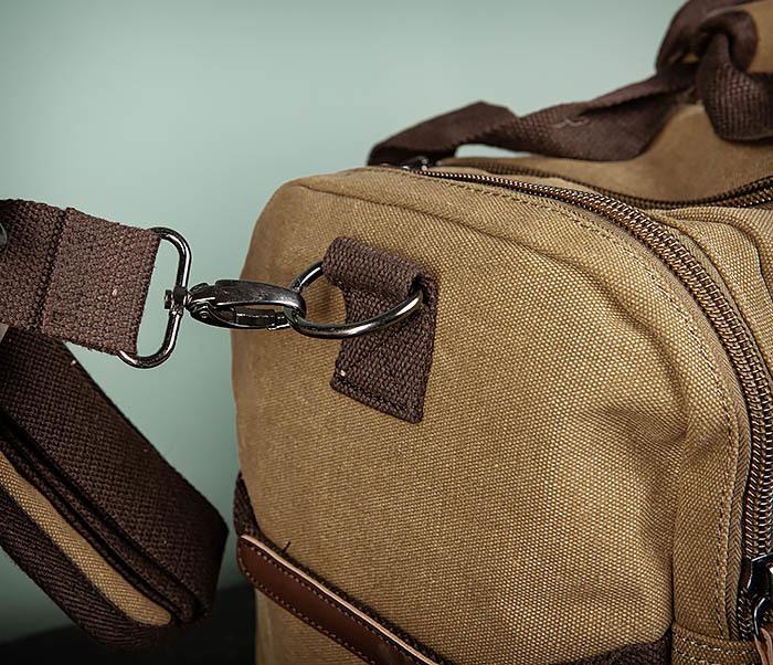 BAG502-2 Тканевая сумка для ручной клади коричневого цвета фото 04
