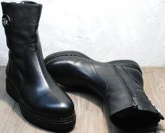 Ботильоны женские зимние G.U.E.R.O G019 8556 Black.