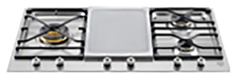 Газовая варочная панель Bertazzoni PM365SGX