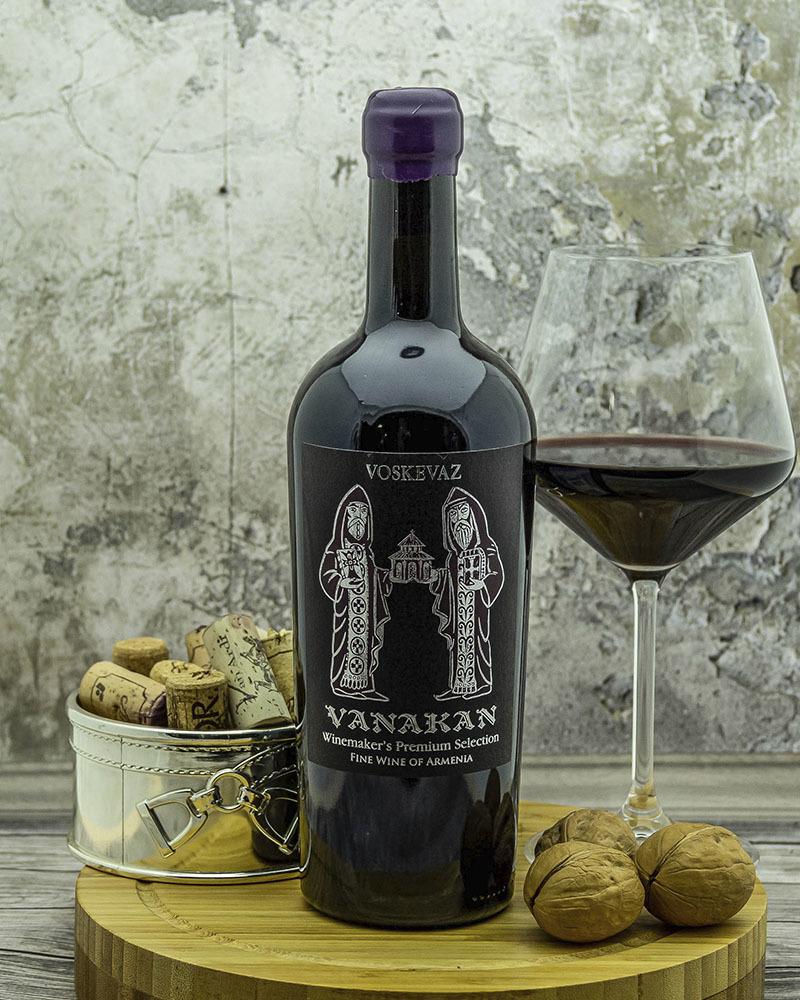 Вино Voskevaz Ванакан Красное сухое Невинтажное 12,5% 0,75 л.