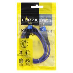 FORZA Кабель для зарядки, плетение, Type-C, 2А, 1м, пластик