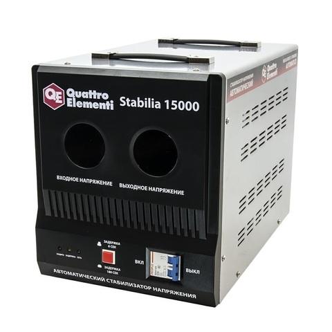 Стабилизатор напряжения QUATTRO ELEMENTI Stabilia 15000 (15000 ВА, 140-270 В, 24 кг, байпа (241-499)