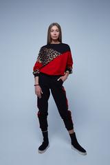Спортивный костюм с леопардовой вставкой интернет магазин