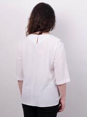 Василина. Святкова блуза плюс сайз. Білий.