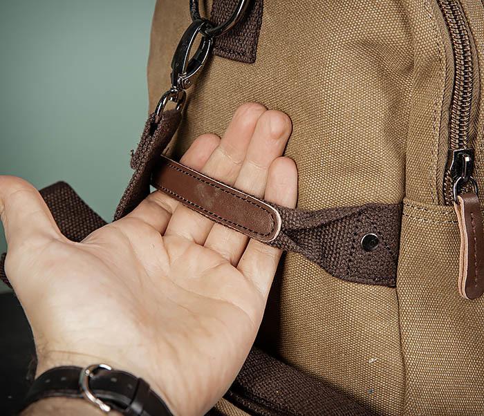 BAG502-2 Тканевая сумка для ручной клади коричневого цвета фото 05