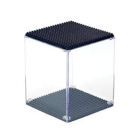 Выставочный пылезащитный дисплей для демонстрации конструктора 10 х 8,5 х 8,5 см черный Wisehawk & LNO display case NO. 2230