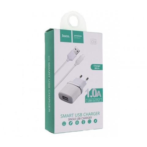 Купить зарядку Hoco C11 + Micro USB