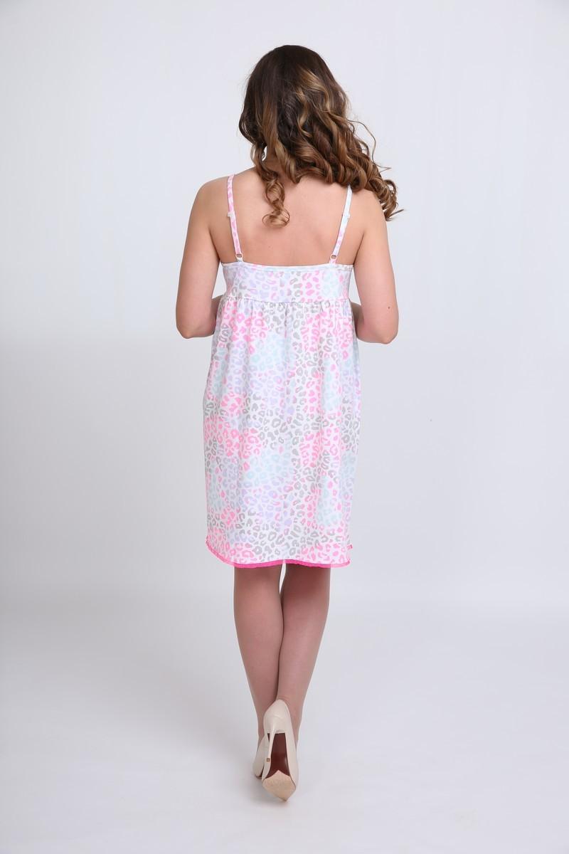 Ночная сорочка для беременных и кормящих 09713 узорный