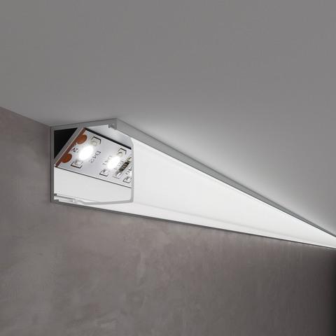 Квадратный угловой алюминиевый профиль для светодиодной ленты LL-2-ALP009