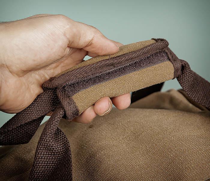 BAG502-2 Тканевая сумка для ручной клади коричневого цвета фото 06