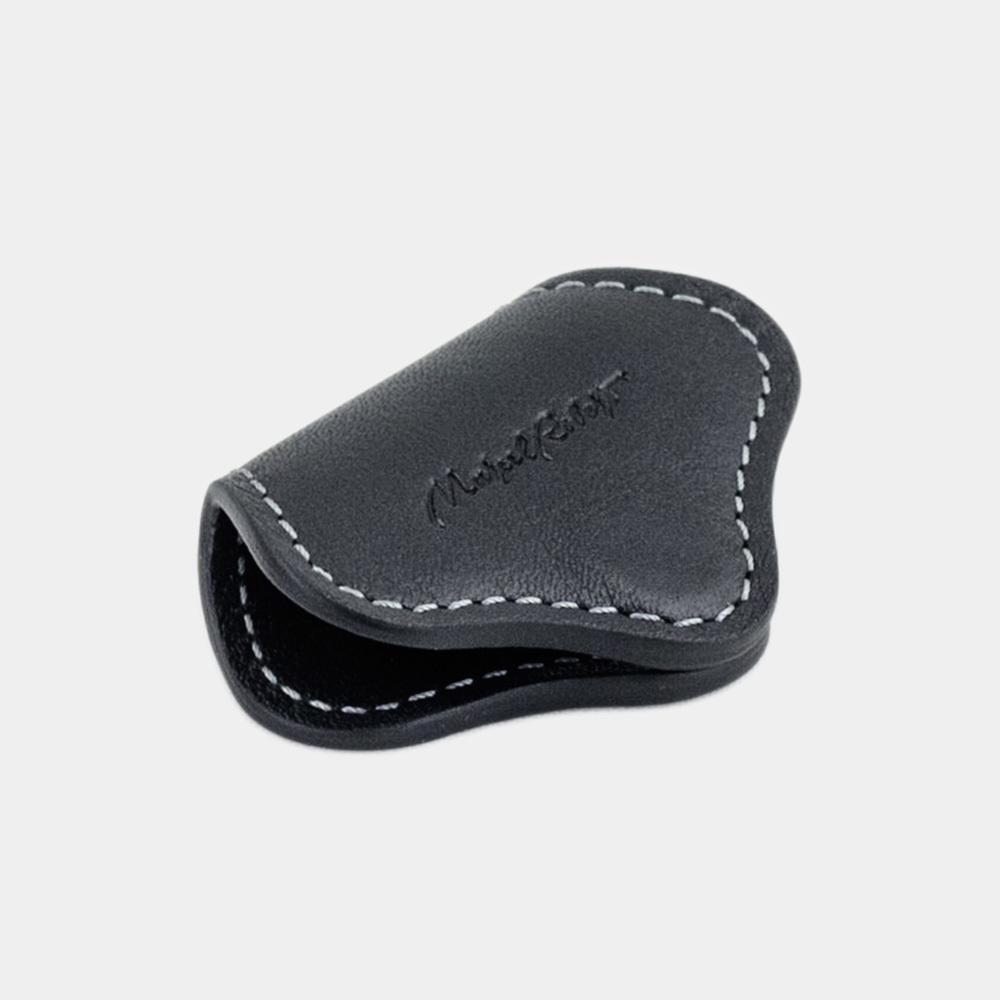 Чехол-держатель для наушников Chapeau Easy из натуральной кожи теленка, темно-синего цвета