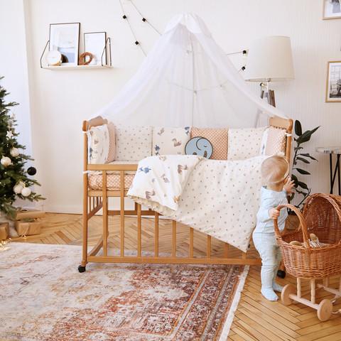 Комплект постельного белья для новорожденных с защитой-бортиками Верона - 2 Белочки