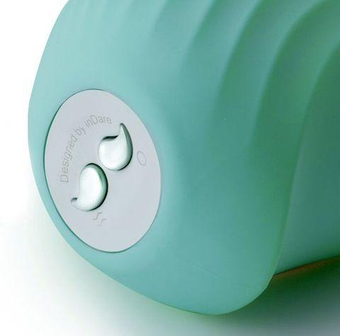 Мятный вакуум-волновой стимулятор с вибрацией и базой-ночником Cuddly Bird