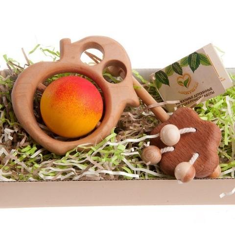 Набор деревянных погремушек Яблочко от Яблоньки