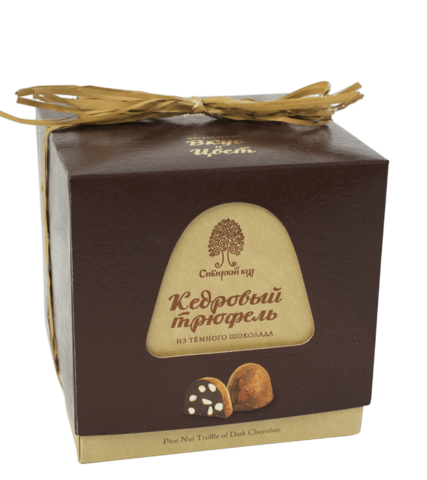 Кедровый трюфель из тёмного шоколада, 120 г