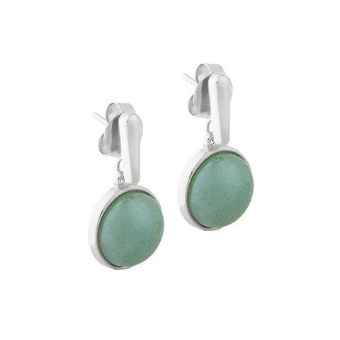 Серьги pearl green quartz A1995.16 G/S