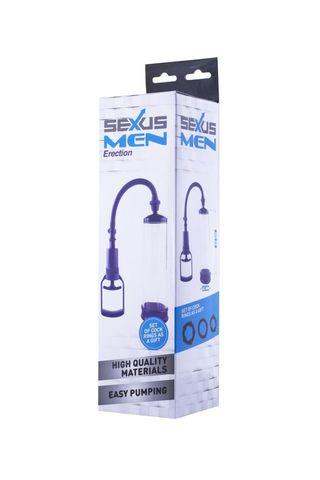 Фиолетовая вакуумная помпа с прозрачной колбой