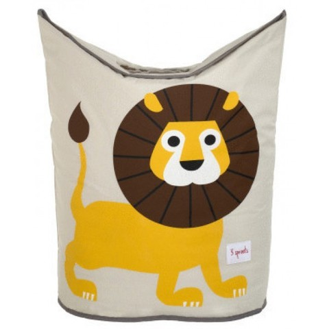 Корзина для белья 3 Sprouts Жёлтый львёнок (Yellow Lion) 27253