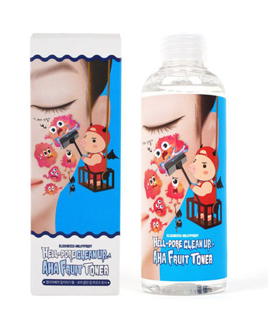 Тонер с фруктовыми кислотами Elizavecca Hell-Pore Clean Up Aha Fruit Toner 200мл