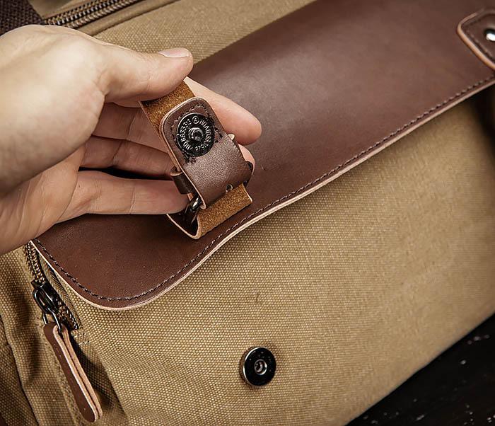 BAG502-2 Тканевая сумка для ручной клади коричневого цвета фото 07