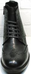 Классические брендовые мужские зимние ботинки LucianoBelliniBC3801L-Black .
