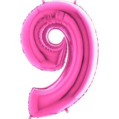 Цифра 9 (Розовая)