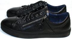 Молодежные туфли мужские Ікос 1528-1 Black