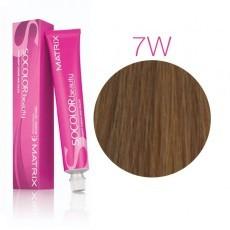Matrix SOCOLOR.beauty: Warm 7W теплый блондин, краска стойкая для волос (перманентная), 90мл