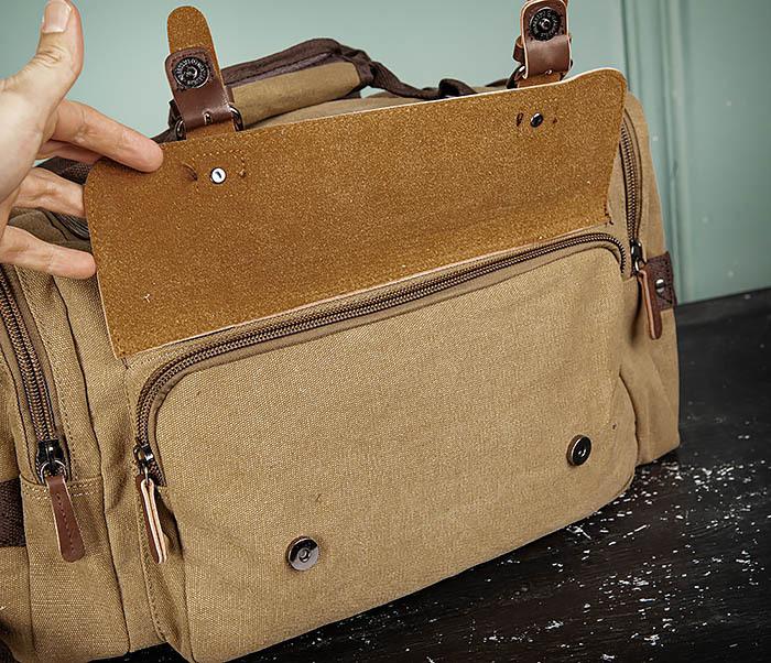 BAG502-2 Тканевая сумка для ручной клади коричневого цвета фото 08