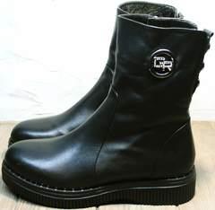 Черные ботильоны женские зимние G.U.E.R.O G019 8556 Black.