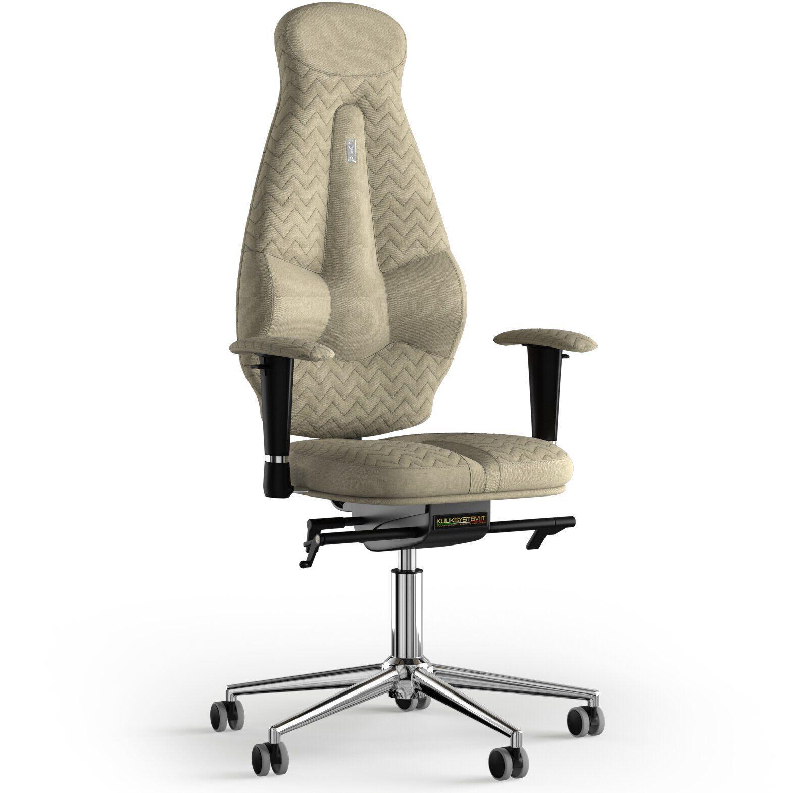 Кресло KULIK SYSTEM GALAXY Ткань с подголовником с дизайнерским швом