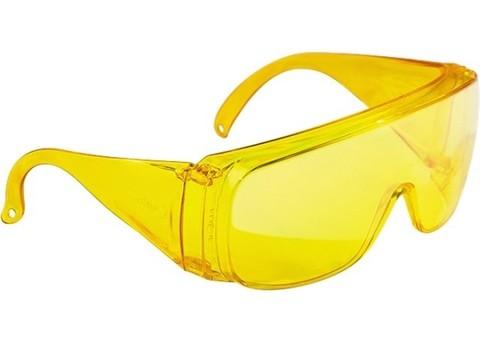 Очки защитные открытого типа желтые