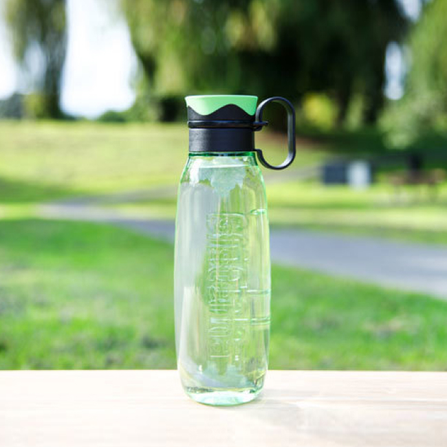 "Бутылка для воды с петелькой Sistema ""Hydrate"", Тритан, 650 мл, цвет Зеленый"