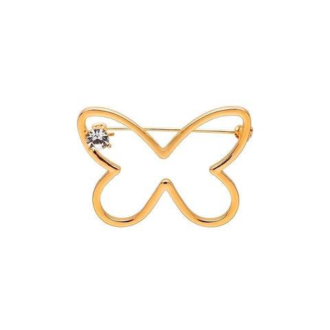 Брошь Бабочка FAN-07370 G