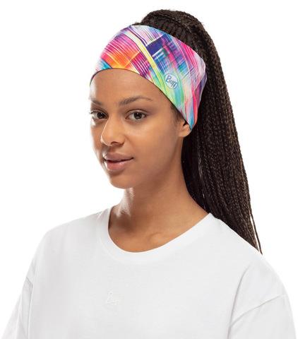 Повязка на голову спортивная Buff Headband CoolNet B-Magik Multi фото 2