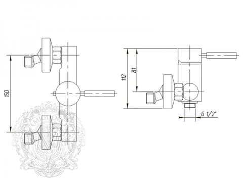 Смеситель для душа  Migliore Fortis ML.FRT-5238 схема