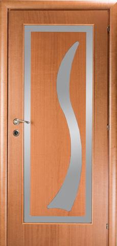 Дверь Mario Rioli Mare 101DA (вишня россо, остекленная, массив, облицованный шпоном)