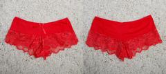 "Трусы ""жен. № 2"" Шорты кружево-2 Красные"
