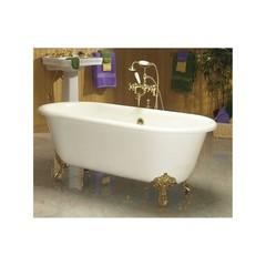 Ванна чугунная классическая Magliezza Patricia 168x76,6 компелкте с ножками золото
