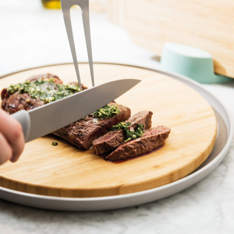 Нож для мяса 19см Leo (серый)
