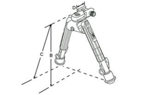 Сошки UTG LEAPERS 360° на Weaver (Medium) TL-BP01