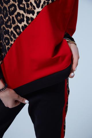 Спортивный костюм с леопардовой вставкой недорого