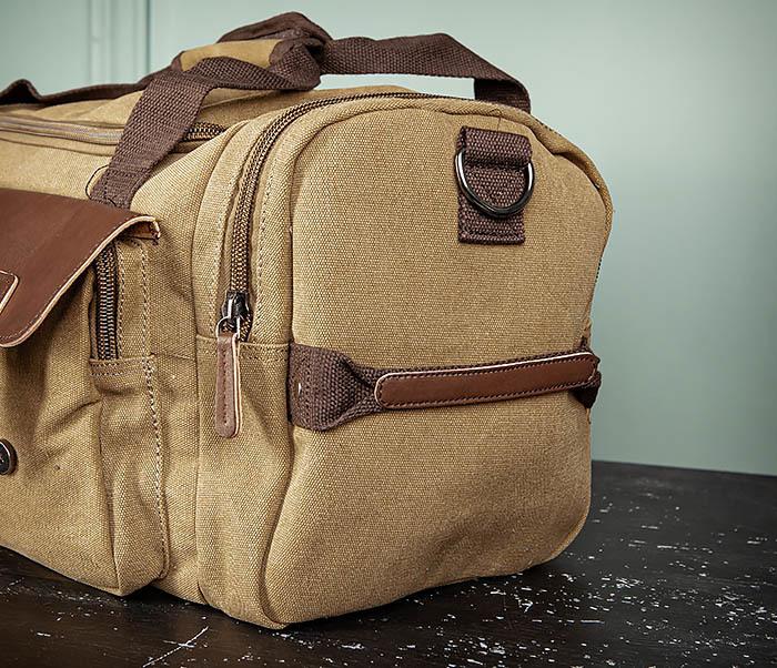 BAG502-2 Тканевая сумка для ручной клади коричневого цвета фото 09