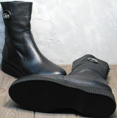Ботильоны на низком каблуке женские зимние G.U.E.R.O G019 8556 Black.