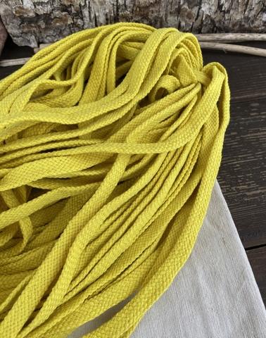 Шнур плоский 10мм, желтый