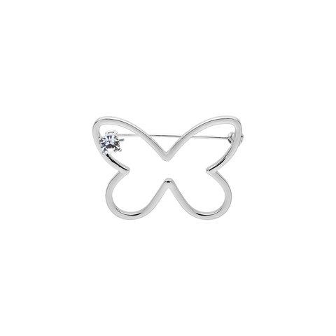 Брошь Бабочка FAN-07370 S