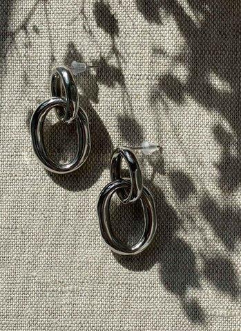 Серьги-цепи серебряные